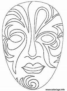 coloriage carnaval joli masque pour le visage dessin