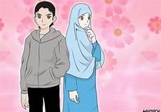 Wow 10 Gambar Kartun Lucu Pasangan Muslim Wallpaper