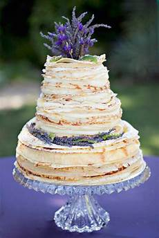 cake inspiration crepe wedding cake with lavender