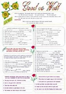 english worksheets good well