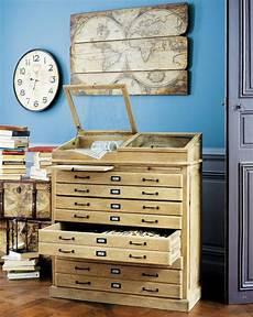 cabinet semainier multi tiroirs naturaliste soldes