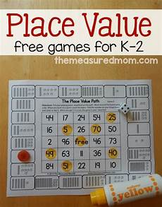 printable 2nd grade place value games free place value games for k 2 the measured mom