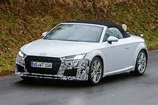 new audi tt facelift spied testing auto express