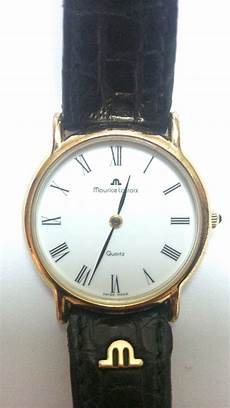 maurice lacroix ladies gold plated 18k with sapphire in the crown hewi london