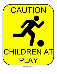 printable caution children sign