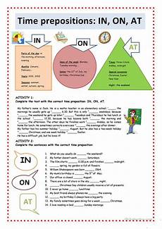time prepositions in on at worksheet free esl printable worksheets made by teachers
