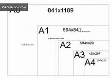 autocad paper sizes dynamic block free cad file download