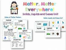 matter unit solids liquids and gases experiments lessons and printables