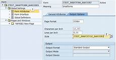 attributes of form bar code printing with smatforms sap abap sap