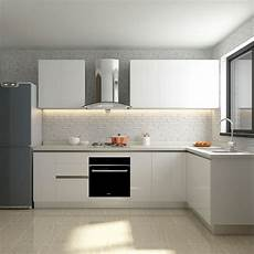 Kitchen Furnitur China Oppein Simple Modern White Slab Style Assembly