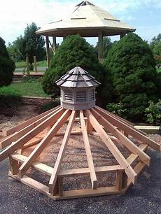 gazebo roof framing upper tier of new gazebo roof with saved cupola from old gazebo gazebos