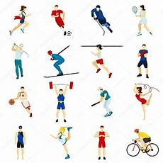 Mensen Sport Icon Set Stockvector 169 Macrovector 105936420