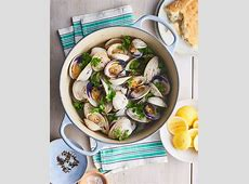clams in butter garlic herb_image