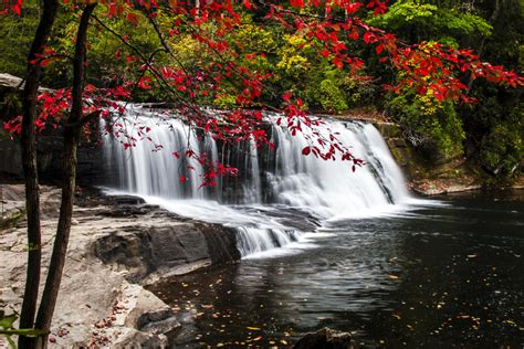 hiking waterfalls  asheville nc dupont state forest