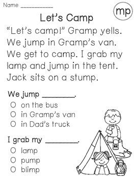ending blends reading fluency and comprehension passages by miss giraffe