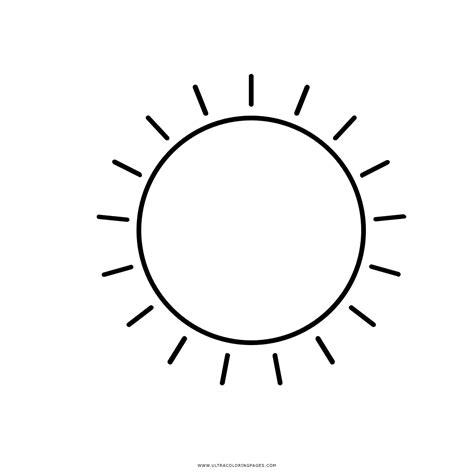 Sole Da Colorare Per Bambini