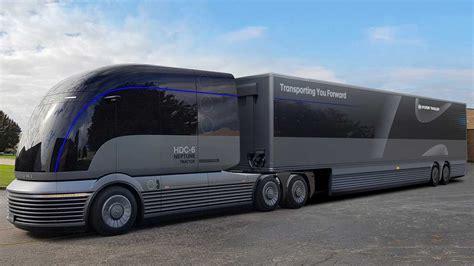 hyundai debuts dope hydrogen powered semi truck concept