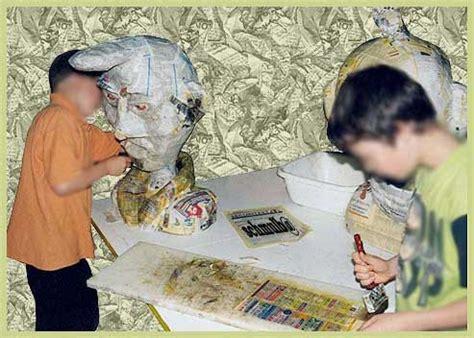 le en papier mache bustes papier mache et interventions arts plastique en ecole