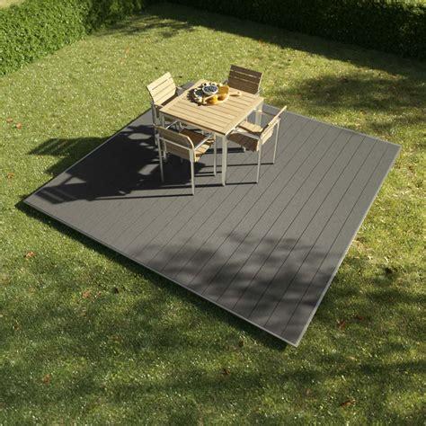 wpc shop wpc terrassen komplett set quarzgrau 3x3m kobrax shop