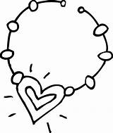 Necklace Coloring Clip Sweetclipart sketch template