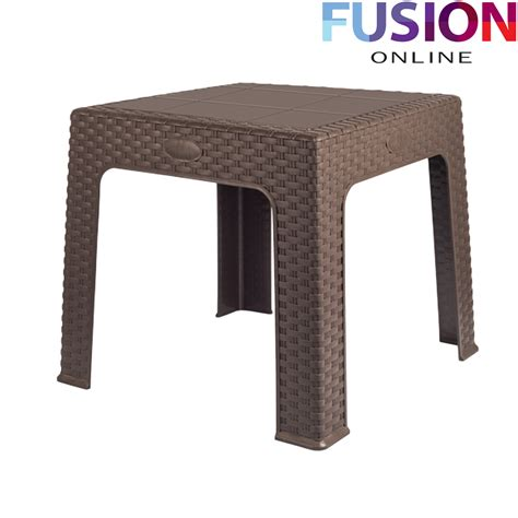 small plastic outdoor table rattan style plastic small table outdoor picnic party