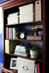 Light Wood Bookshelf Lighten Up A Dark Bookcase Without Paint Home Office