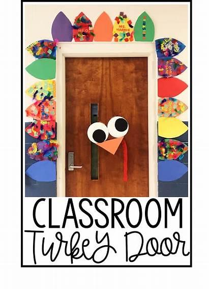 Classroom Door Turkey Decorations Preschool Bulletin Decorating