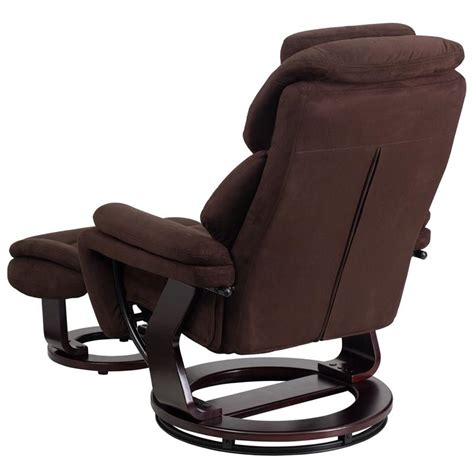 Microfiber Chair And Ottoman by Flash Furniture Contemporary Brown Microfiber Recliner And