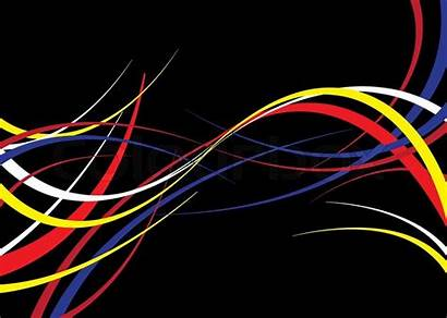 Ribbons Flowing Ribbon Twisted Background Travers Vector