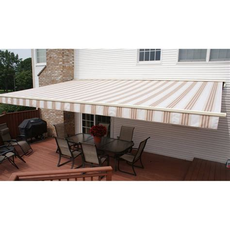 perfect shade protector    ft motorized semi cassette retractable awning  perfect