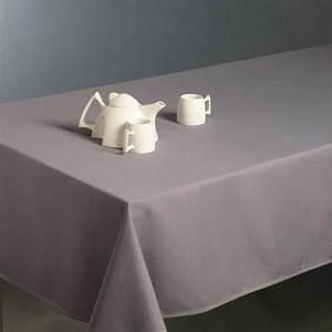 Nappe Table Rectangulaire : nappe rectangulaire l300 cm lina gris nappe de table ~ Teatrodelosmanantiales.com Idées de Décoration