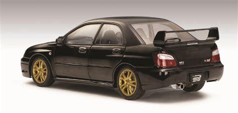 subaru autoart autoart 2003 subaru impreza wrx sti black 78663 in 1