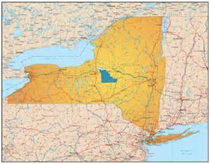 Map of Madison County New York State