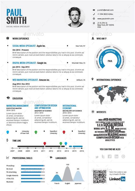 infographic resume bundle  paolo graphicriver