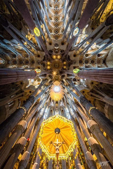 kaleidoscopic ceiling  gaudis la sagrada familia idesignarch interior design