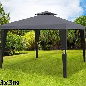 Pavillon Garten Metall : pavillon 3x3m partyzelt gartenm bel garten zelt pavillion metall polyrattan ebay ~ Sanjose-hotels-ca.com Haus und Dekorationen