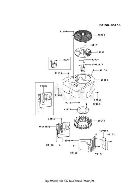 kawasaki fxv   stroke engine fxv parts diagram