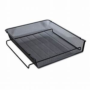 mesh stackable front load tray letter black the office With stackable letter trays front loading