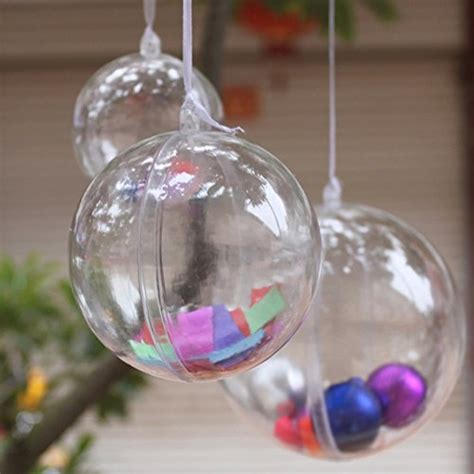 stillcool clear plastic fillable ball ornament christmas