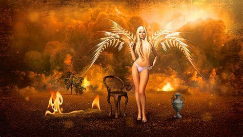fantasia angel fuego imagen gratis en pixabay