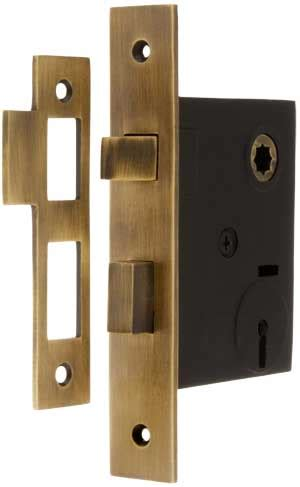 mortise lock  solid brass faceplate   backset  antique  hand house  antique