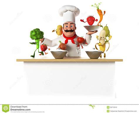 cuisine de chef chef de cuisine avec des vegatables photo stock image