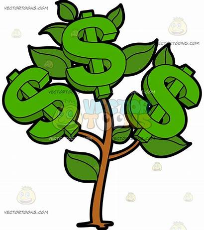 Money Clipart Cartoon Dollar Dollars Plant Cash