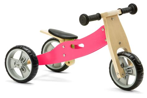 Nicko Mini 2 In 1 Pink Wooden Balance Running Bike Trike