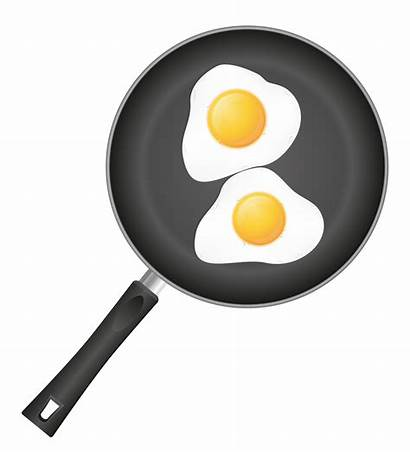 Pan Eggs Frying Fried Vector Illustration Bacon