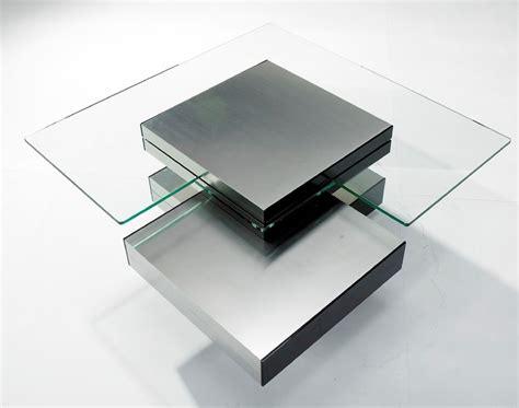 multi level coffee table contemporary glass multi level coffee table
