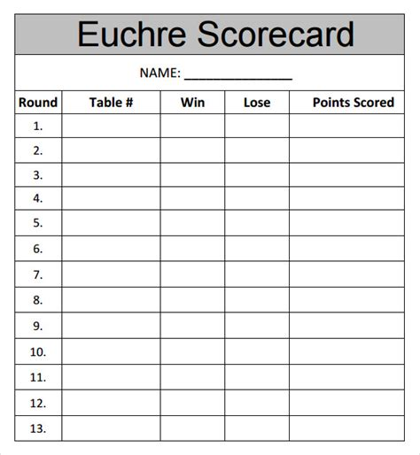 Template Euchre Score Cards Euchre Score Cards The Gallery For Gt Wine Tasting Score Cards