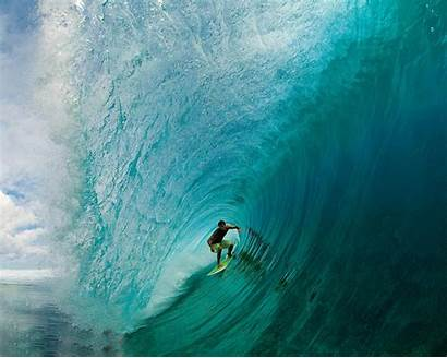 Surfing Barrel Surf Wallpapers Waves Hawaii Walls