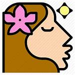 Pretty Face Icon Woman Beauty Flower Icons