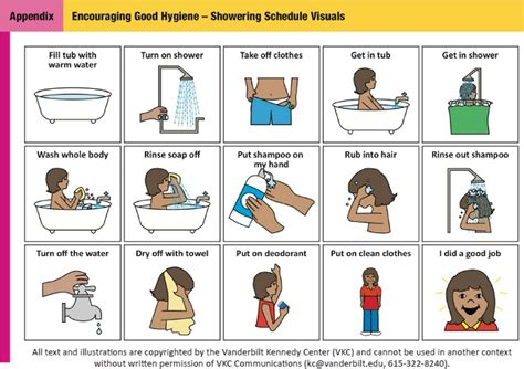 visual schedule for showering helping tweens and with autism master puberty health